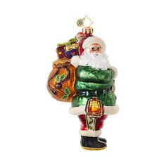 Christopher Radko Ornaments | Radko Santa Claus Rugged Road Santa 1018920