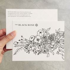 illustrations for The Black Rose / Paper & Type