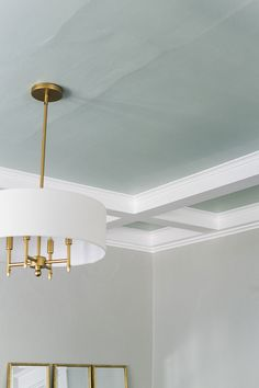 My Honest Review of Clare Paint   Our Accent Ceiling at The Craftsman House. @clare_paint A Modern Traditional Living Home Decor Trends, Home Decor Inspiration, Design Inspiration, Decor Ideas, Interior Styling, Interior Decorating, Interior Design, Chandeliers, Accent Ceiling