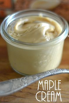 Maple Cream is a thick, rich, spreadable form of pure maple syrup --- and you can make it right in your own kitchen! Cooked maple syrup with a little butter Flavored Butter, Homemade Butter, Maple Syrup Recipes, Dips, Honey Butter, Cream Butter, Maple Butter Recipe, Coconut Cream, Coconut Oil