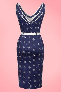 Vixen Blue Sailor Navy Blue Pencil Dress