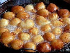 Hot and Ready to Fry. Roll'em till they Crispy/Brown Haitian Food Recipes, Cuban Recipes, Jamaican Recipes, Carribean Food, Caribbean Recipes, Beignets, Hatian Food, Fried Dumplings, World's Best Food