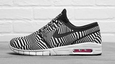 """Nike SB Stefan Janoski Max """"Dazzle"""": After lending the same treatment to its hallmark Dunk High late last year, here Nike SB gives the Nike Outlet, Best Sneakers, Sneakers Nike, Reebok, Nike Sb Janoski, Sb Stefan Janoski Max, Nike Skateboarding, Nike Heels, Shopping"""