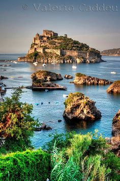 Castello Aragonese in Ischia, don't know where Ischia is but it looks beautiful