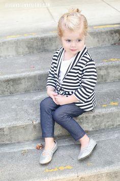 So cute! Shawl cardigan mini pattern