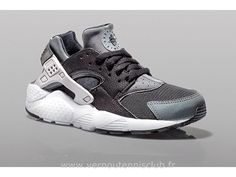 Nike Air Huarache GS black Wold Grey - Chaussure Pour Homme