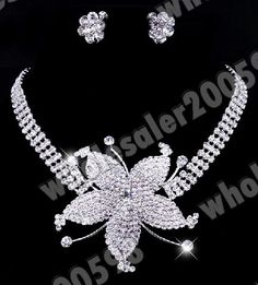 Prom Jewelry   Wholesale 12X Bridal Prom Jewelry SET 12style Crystal Necklace ...