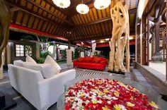 Common area in Villa San, Ubud, Bali.