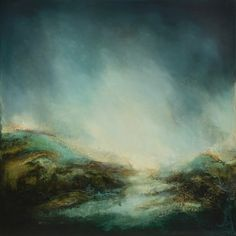 Sky Touches Earth, Touches Sea Oils and Dutch gold leaf on panel 100cm x 100cm Marco Crivello