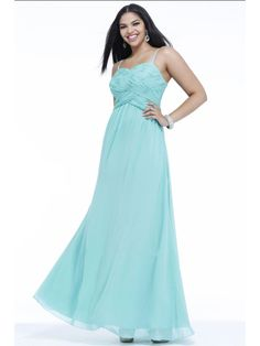 A-line Spaghetti Straps Sweetheart Floor Length / Long Plus Size Chiffon Prom / Evening / Formal / Party Dresses 2401064