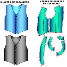 Patrones de chalecos clasicos de caballero en todas las tallas, http://creamodashop.com/chaleco-clasico-caballero/