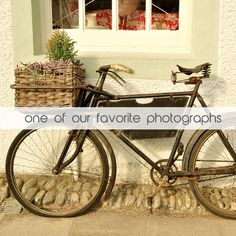 Bring a bit of autumn breeze into your home with this #photo print from wallscaping.net #bike #backtoschool #favoritephoto