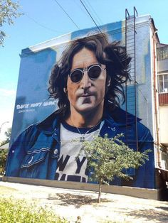 John Lennon piece by Andrey Palwal in Ukraine.