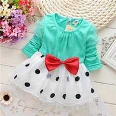 Cheap baby dress, Buy Quality dress dress dress directly from China baby dress 2016 Suppliers: 2016 Hot sell baby dress New Casual Girls Top Kid dot Princess Dress kids Clothes childern bow dress Toddler Girl Outfits, Baby Girl Dresses, Baby Dress, Toddler Girls, Dress Girl, Baby Girl Princess, Cute Baby Girl, Baby Girls, Princess Party