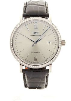 IWC - IWC Portofino 18kt White Gold Diamonds - IW356514 - Unisex - 2016  Completely unworn watch comes with box full international warranty and manual.Brand: IWCRef. No.: IW356514Movement: AutomaticCase material: White goldBracelet material: Crocodile skinWith boxWith papersGender: Ladies' watchCALIBERMovement: AutomaticMovement/Caliber: 35111Base Caliber: Sellita SW300-1Power reserve: 42 hNumber of jewels: 25Frequency: 28800 A/hCASECase material: White goldCase diameter: 40 mmWaterproof: 3…