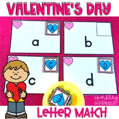 Thank you for checking out my Valentine's Day alphabet match activity!  This printable alphabet game supports the learning & reinforcement of letters! #kindergarten #preschool #literacycenter