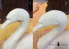 Learn how to make an edible swan cake, step by step! I'll show you how to create the necks, the feathers and the hand painted face! Creative Cake Decorating, Cake Decorating Tutorials, Creative Cakes, Cake Topper Tutorial, Fondant Tutorial, Cake Toppers, Cake Templates, Pecan Cake, Bowl Cake