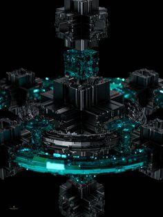 ArtStation - The Dark Cubical, Jerrin Varghese Technology Design, Art And Technology, Circuit City, Tech Background, Tech Art, Futuristic Art, Geometry Art, Cyberpunk Art, Art Station