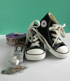 Ucreate: Creative Guest: Blinged Converse Tutorial by A Happy Circus