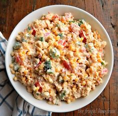 it's going to go first at any party, potluck or barbecue! Easy to make in a bowl or layered for a gorgeous presentation. Southern Cornbread Salad, Cornbread Salad Recipes, Casserole Recipes, Cornbread Pudding, Cornbread Casserole, Bacon Recipes, Side Dish Recipes, New Recipes, Cooking Recipes