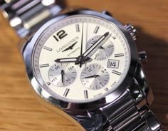 Longines Conquest Classic Chronograph Watch