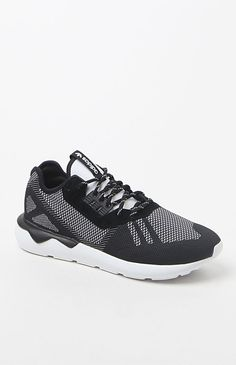 ee686584446 Tubular Runner Weave Black   White Shoes