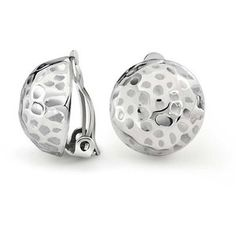 Bling Jewelry Bling Jewelry Hammered Golf Ball Dome Clip On Earrings Alloy Clip Brass
