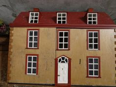 Vintage Dolls House | eBay, nice style with beautiful old colors.  .....Rick Maccione-Dollhouse Builder www.dollhousemansions.com