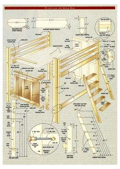 bunk bed with stairs plans free | Project: Bunk bed – Canadian Home Workshop