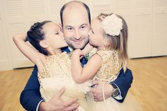 Adorable!!! Showing some love for the groom! Photo by Kim. #minneapolisweddingphotographers #weddingphotographersmn #kidsinweddings #flowergirls #groom