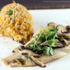 Tilapia with Shiitake Mushrooms