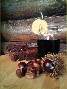 Extra chocolate cake with chestnuts - Pastel super chocolateado con castañas