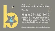 23 Best Girly Doula And Midwife Business Cards Images Business