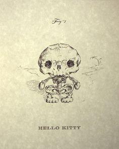 Hello Kitty Skeleton Print 8x10