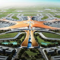 The Beijing New Airport Terminal Building, Daxing (Zaha Hadid)