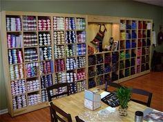 yarn display - cubbies Wool Shop, Yarn Shop, Yarn Display, Thanksgiving Preschool, Yarn Storage, Craft Online, Store Displays, Craft Shop, Cubbies