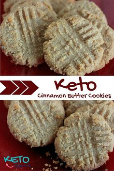 Keto Cinnamon Butter Cookies Recipe - Great recipe for the holidays. With only 2 net carbs these cookies are perfect for a low carb high fat diet. 14g fat.