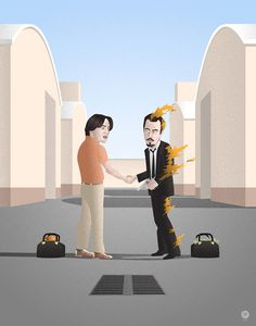 "spokeart: "" Really digging Seth Patrick's ""I Wish Steve Was Here"" piece, created exclusively for our upcoming Quentin vs. Coen art show. Steve Buscemi from Big Lebowski and Reservoir Dogs meeting on a. Reservoir Dogs, Pink Floyd, Crossover, Nostalgia Art, Fanart, Steve Buscemi, The Big Lebowski, Hollywood, Wish You Are Here"