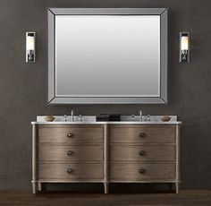 Extra Wide Double Bathroom Vanity printmaker's extra-wide single vanity sink (i love this, i want