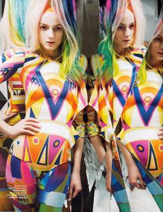 portrait painting inspiration : colors and pattern! Pucci Pucci Pucci