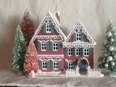 Glitter house.  Nice gingerbread touches