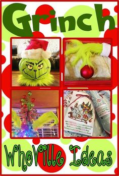 Who doesn't love the Grinch? It's a Christmas classic! This year I am doing a Grinch themed WhoVille Grinch-mas party and have b. Christmas Party Games For Kids, Grinch Christmas Party, Grinch Who Stole Christmas, Grinch Party, Kids Christmas, Christmas Classics, Xmas Party, Christmas Movies, Christmas Carol