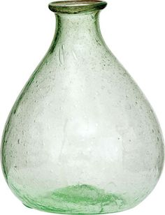 "Light Green Recycled Glass Vase (pear design)  would be perfect as a ""Message in a Bottle"" wedding or shower favor. IV75LG is also available in Charcoal, Port, Turquoise, and Clear. Thanks for the idea, BHLDN."