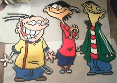 Ed, Edd n Eddy If anyone needs a better picture so you can copy the design just le. Ed, Edd n Eddy Perler Beads Perler Bead Designs, Perler Bead Templates, Diy Perler Beads, Perler Bead Art, Pearler Beads, Fuse Beads, Pony Bead Patterns, Hama Beads Patterns, Beading Patterns