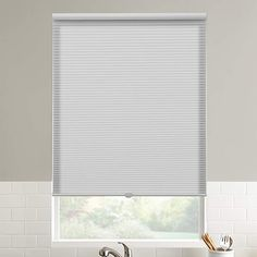 68.5W x 48H Inches White DEZ Furnishings QCWT684480 Cordless Light Filtering Cellular Shade