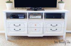 Dresser Turned TV Stand - Two Twenty One