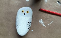 Hedwig Painted Rock, Harry Potter kids craft