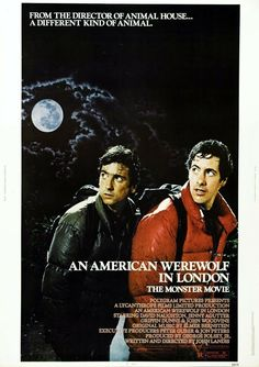 """""""An American Werewolf in London"""" - Um Lobisomem Americano em Londres, 1981 by John Landis ( It is a 1981 comedy-horror film written and directed by John Landis, and starring David Naughton, Jenny Agutter, and Griffin Dunne. Commented by eli sa) Best Horror Movies, Classic Horror Movies, Horror Movie Posters, 80s Movies, Scary Movies, Good Movies, Classic Films, Love Movie, Movie Tv"""