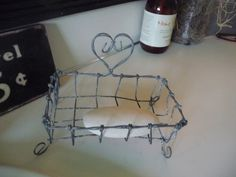 wire soap dish in my bathroom