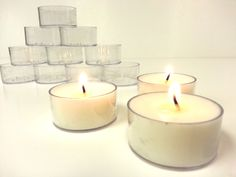Multi-Colour Simply Make Soy Candle Kit One Size Pack of 6 Make Your Own Concrete Tealights Pack of 4 by docrafts